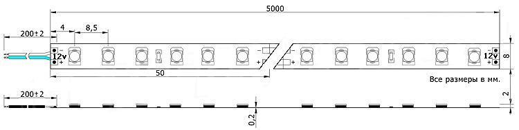 Схема ленты 5050 smd 60